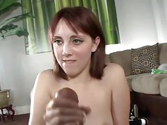 Teen jerks record cumshot from not her Brother WF