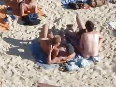 group suck at beach