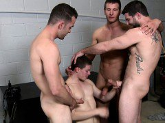 Tyler Sweet sucking five cocks at orgy