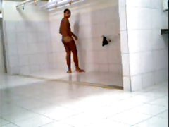caught a guy turned on in gym shower