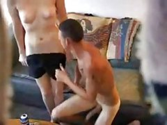 Hidden cam spying on couple having a session