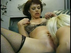 Cute squirting mature lesbians with giant tits suck pussy and finger each other