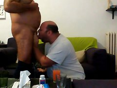 Chubby sucking daddy's dick