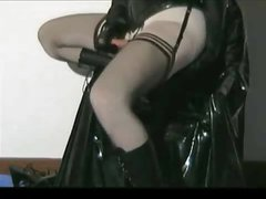 real rubber doll fucking herself
