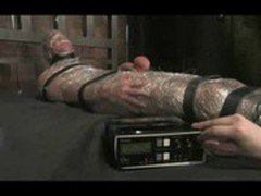 Harmony mummifies, electrocutes, fucks and sucks slave boy