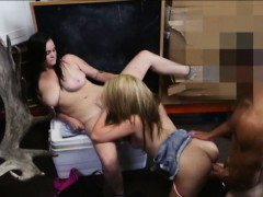 Busty lesbians pawned their hot asses and got fucked