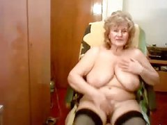 Hacked web cam of my pervert old mum. Watch the bitch