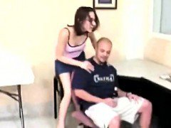 Amateur spanks his girlfriend