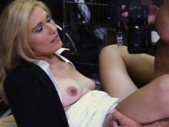 Sexy hot blonde milf hard fucked in storage room