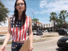 Tali Dava hitchhikes for her first public sex with stranger