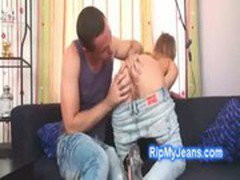 Young blonde Molly Mcnicoll gets down to blow hung bf cock