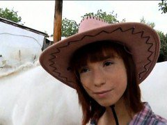 Cutie cowgirl Tina Hot pussy nailed in exchange for money