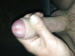 Rough wanking my hard white cock ends with big cumshot