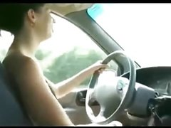 Cool Chick Gives A Handjob While Behind The Wheel