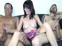 Young Guy and His Step Dad Both Get Their Cocks Stiff
