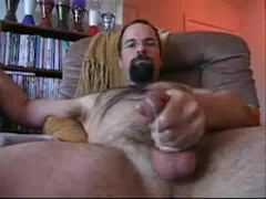 Bearded Dad Jerks Off & Cums
