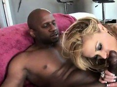 Hot Blond Gives Blowjob And Fucks Big Black Cock