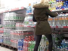 Blonde German Blowjob and Fuck at the Supermarket