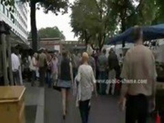 hot chick humiliated in street