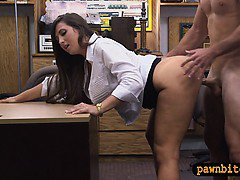 Big butt amateur banged with horny pawn man at the pawnshop