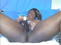 Sexy Ebony BBW Gives a Great Webcam Show