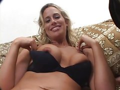 Big nipple blonde MILF takes on dark and light dicks