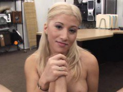 BIg tittied blonde strips for money
