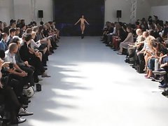 sexy nude in public catwalk model fashion show