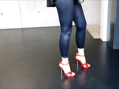 my new red high heels