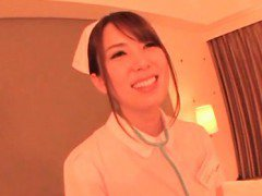 Hot Japanese nurse seducing her doctor and fucking him good