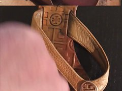 Tory Burch sandals creamed and cum cleanup