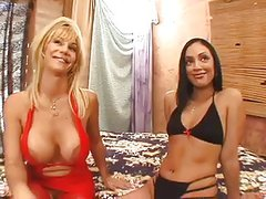 MILF and Teen Lesbians Kat Kleevage and Ice La Fox