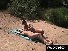 Public nude Beach sex of Swingers Couple