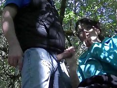 Fun Handjob In The Woods