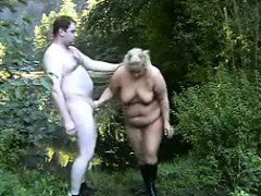 Fat German Couple Having Sex Outside