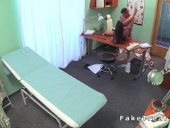 Doctor fucks new nurse in fake hospital