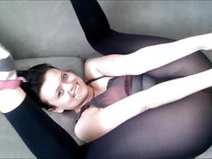 Czech girls in pantyhose and leggings ass orgasm JOI reality