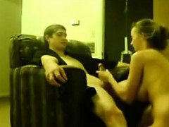 Teen Having Sex On The Chair With Her BF