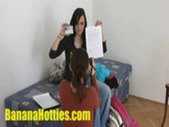 18yo amateur student spreads her legs at 1st casting