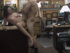 Customers wife screwed by horny pan man in the backroom