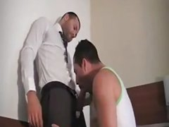 French dudes fucking at hotel after work