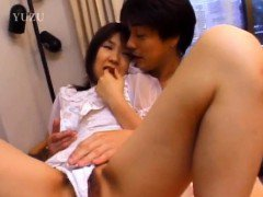 Nami Asakura in wedding dress sucks cock and rubs it with