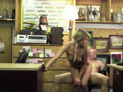 Blonde chick gets fucked in the office