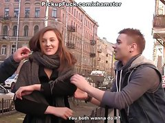 Sexy girls shows tits to horny tourists scene 2