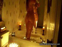 Thick Pawg In Tub By Candle Light Part2