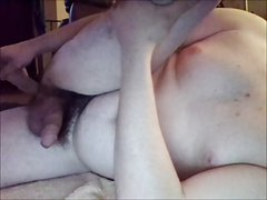 fucking double ended dildo and cumming with it in my ass