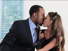 Petite teen girl Kacy Lane pounded by big black dick