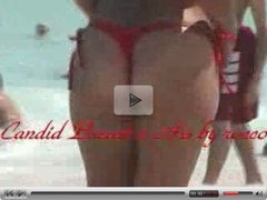 Breasts and asses - beach voyeur video