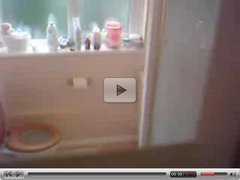 Hidden cam in a bathroom