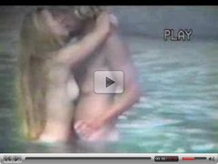 Naked couple at beach - voyeur video